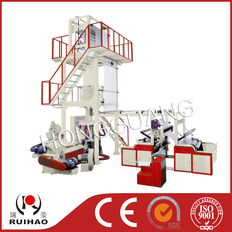 A B A three layer co-extrusion film blowing machine